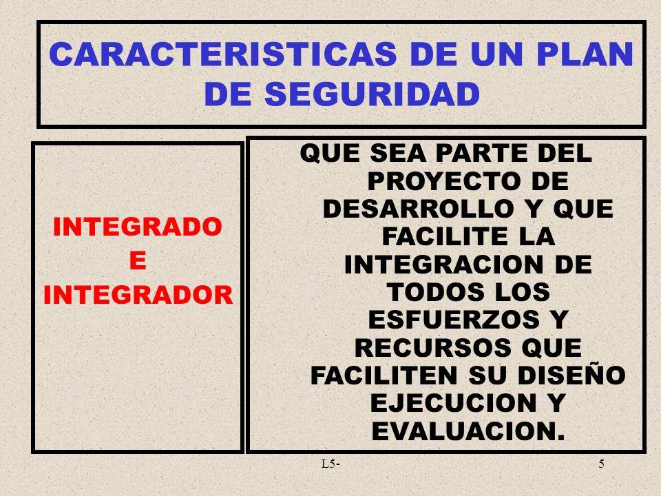 CARACTERISTICAS DE UN PLAN DE SEGURIDAD
