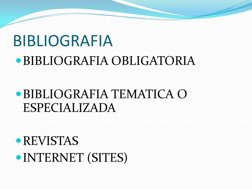 BIBLIOGRAFIA BIBLIOGRAFIA OBLIGATORIA