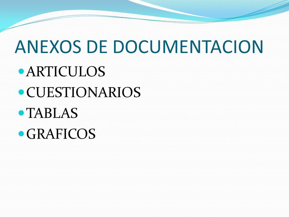 ANEXOS DE DOCUMENTACION
