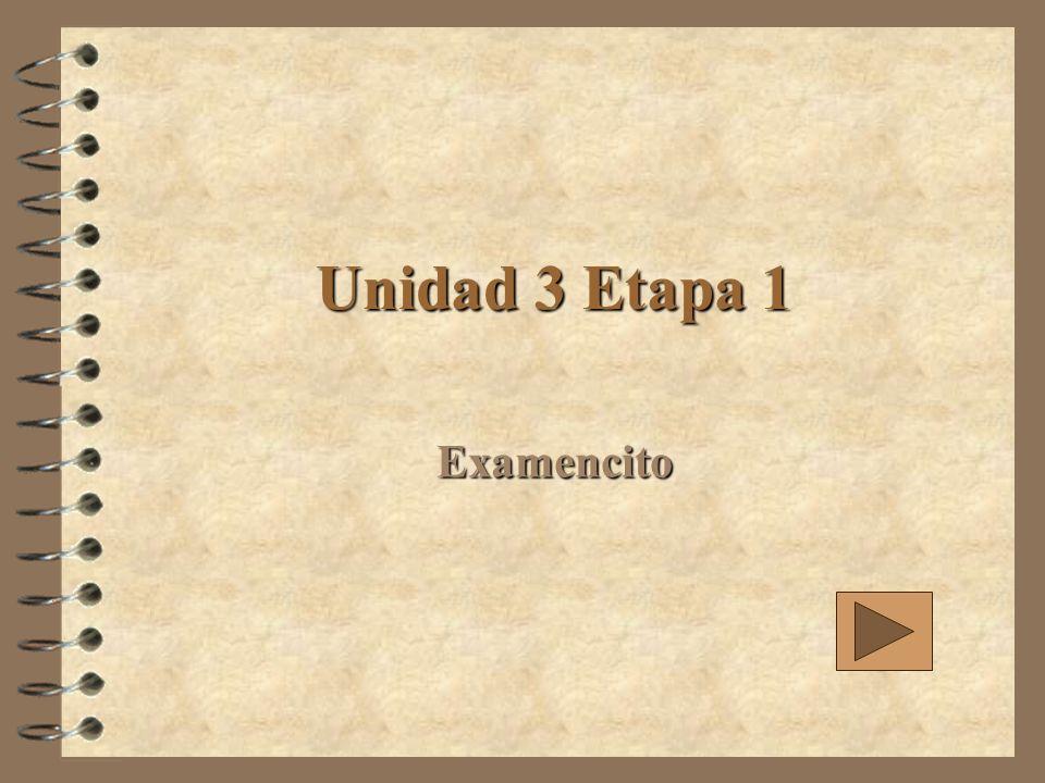 Unidad 3 Etapa 1 Examencito