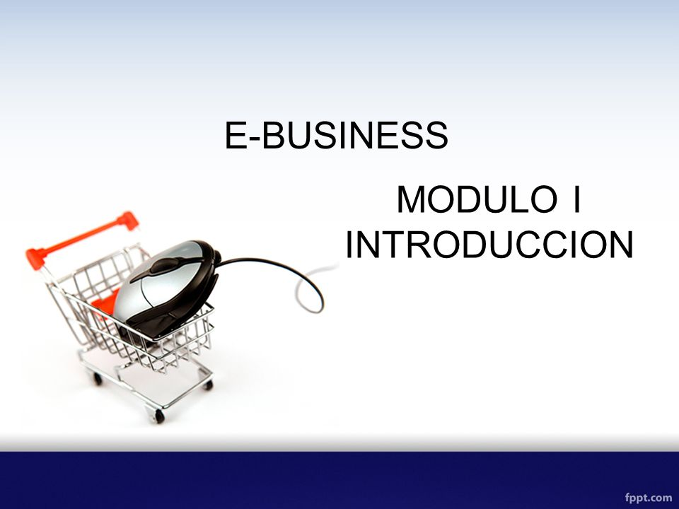 E-BUSINESS MODULO I INTRODUCCION