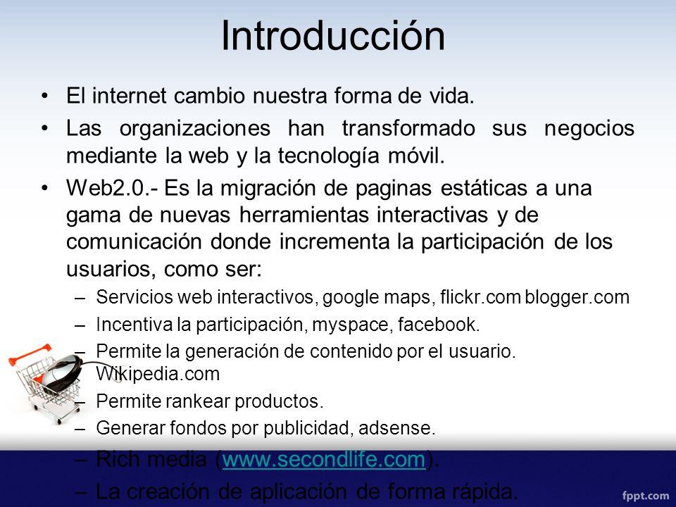 Introducción El internet cambio nuestra forma de vida.