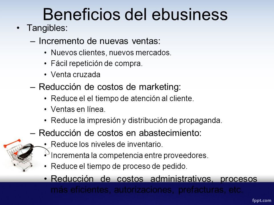 Beneficios del ebusiness