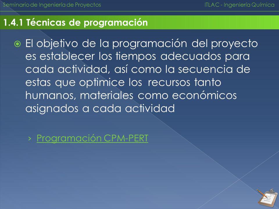 Seminario de Ingeniería de Proyectos ITLAC - Ingeniería Química