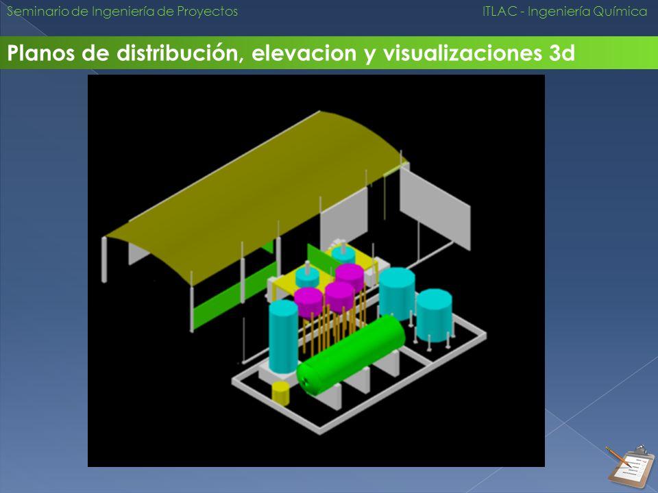 Planos de distribución, elevacion y visualizaciones 3d