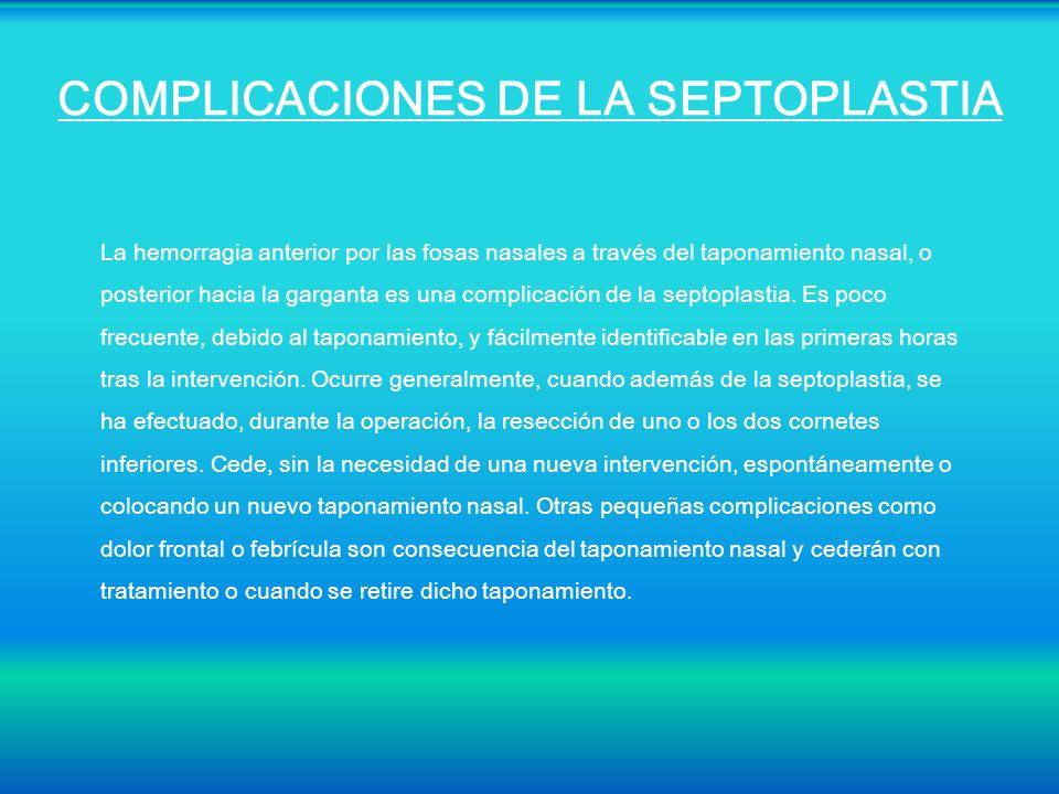 COMPLICACIONES DE LA SEPTOPLASTIA