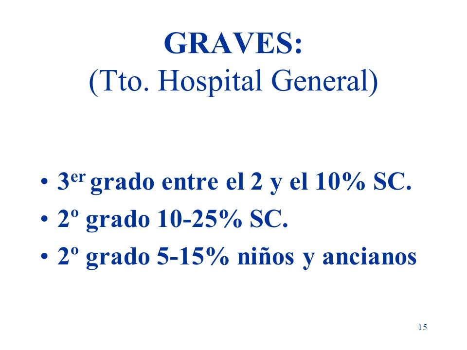 GRAVES: (Tto. Hospital General)