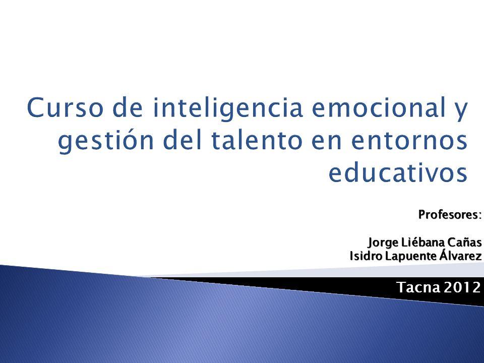 Profesores: Jorge Liébana Cañas Isidro Lapuente Álvarez Tacna 2012