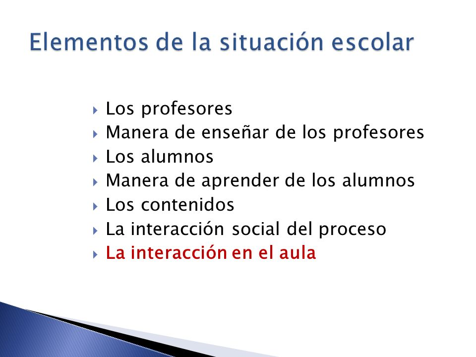 Elementos de la situación escolar