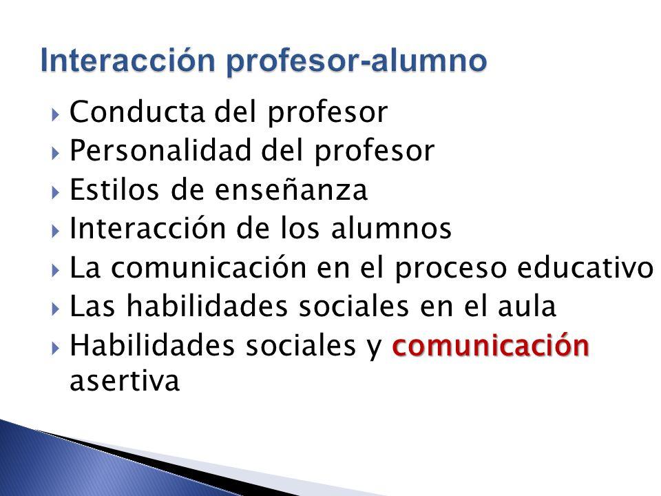 Interacción profesor-alumno