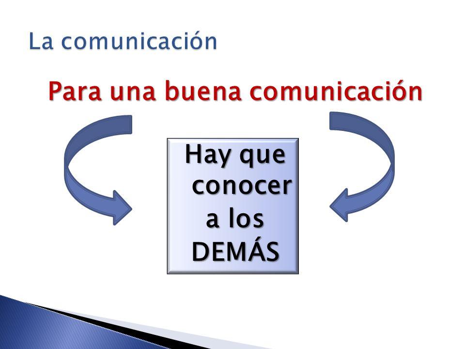 Para una buena comunicación