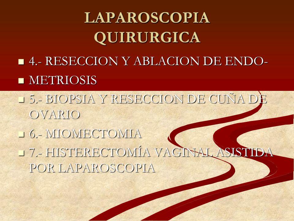 LAPAROSCOPIA QUIRURGICA