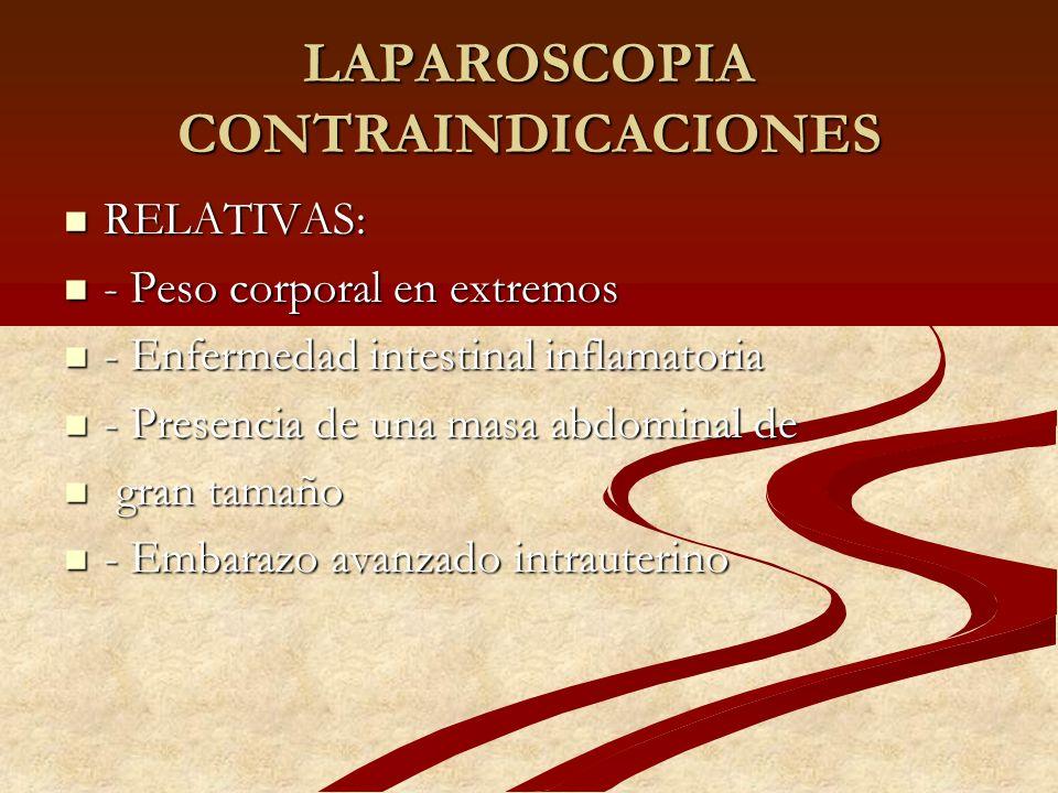 LAPAROSCOPIA CONTRAINDICACIONES