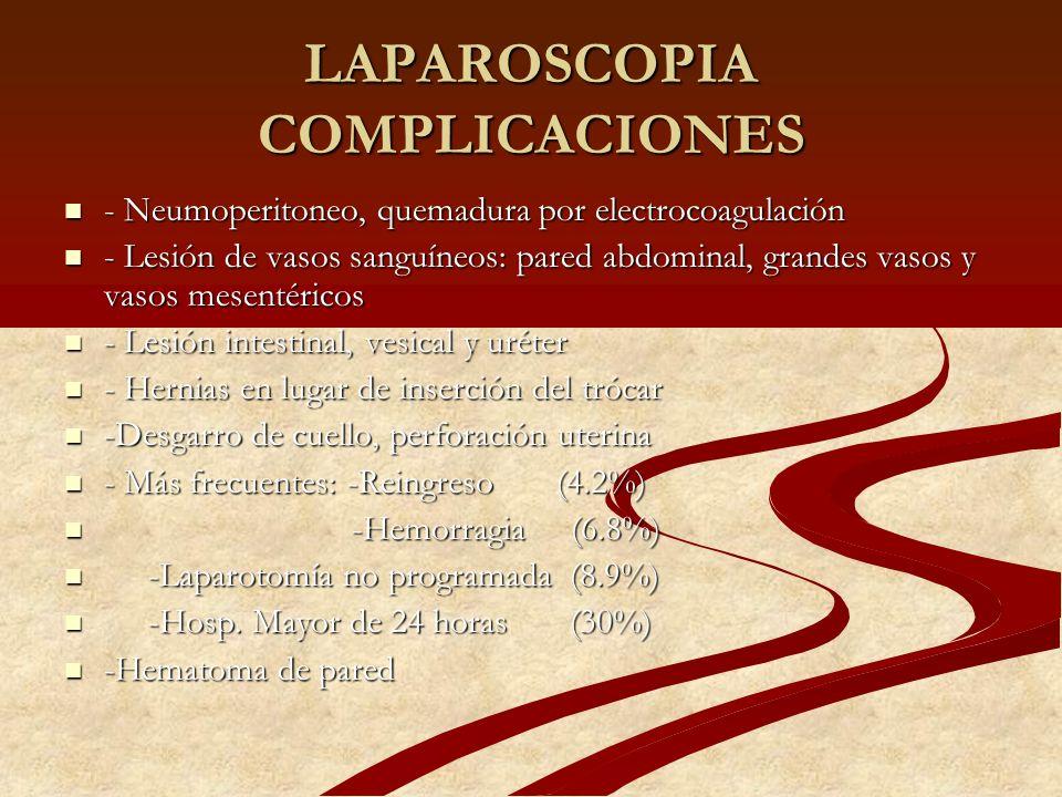 LAPAROSCOPIA COMPLICACIONES