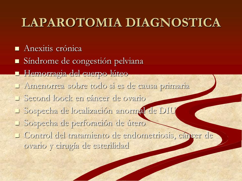 LAPAROTOMIA DIAGNOSTICA