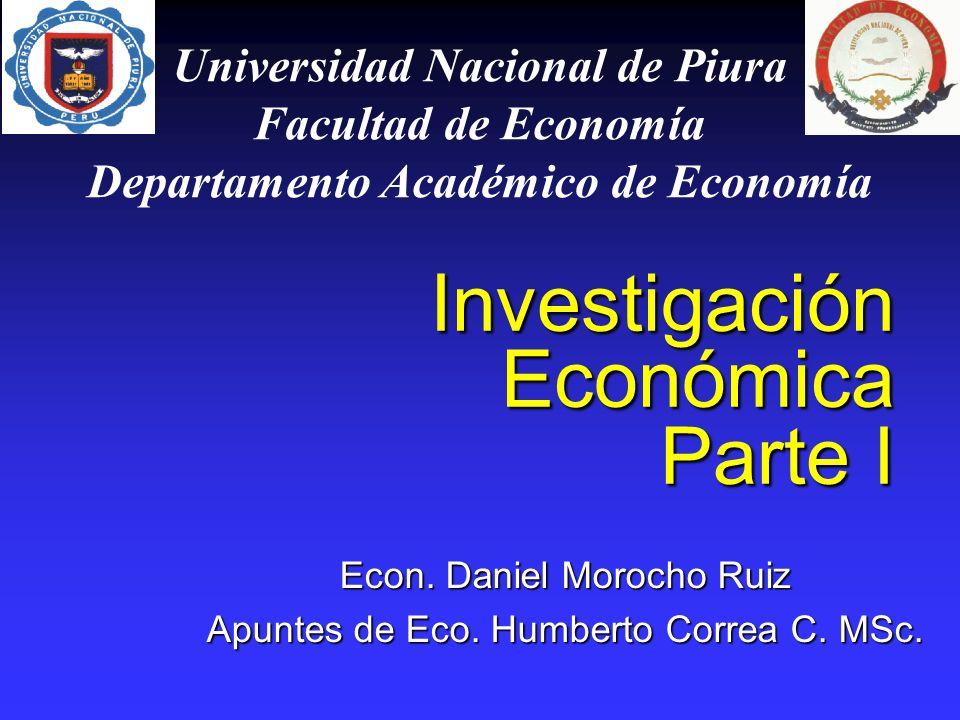 Investigación Económica Parte I