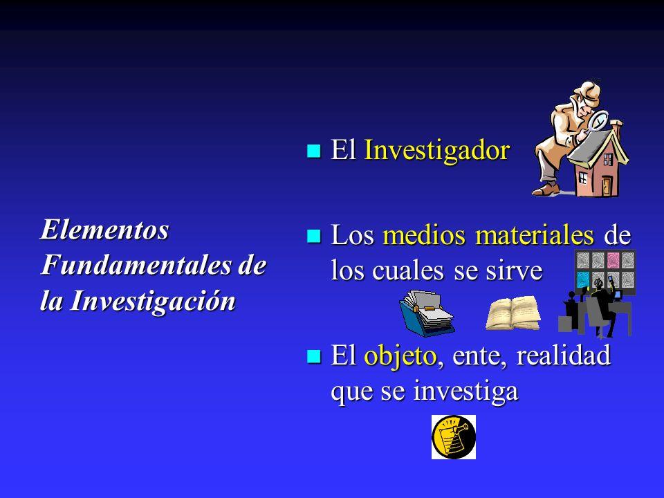 Elementos Fundamentales de la Investigación