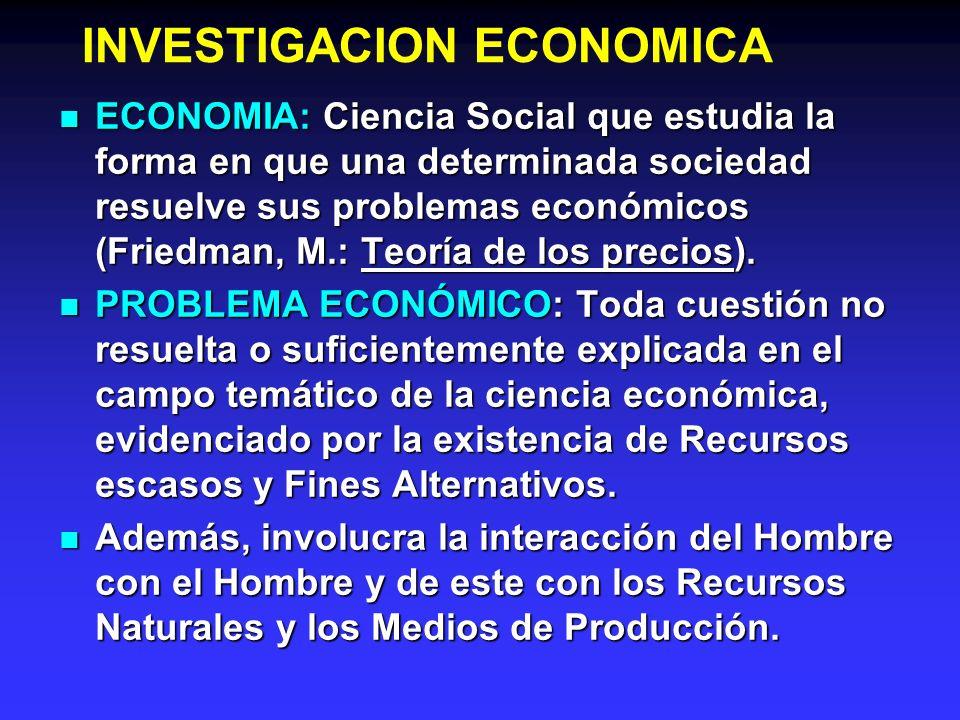 INVESTIGACION ECONOMICA