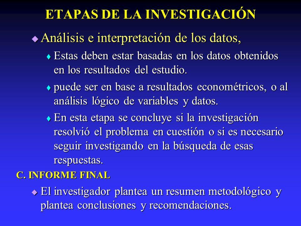 ETAPAS DE LA INVESTIGACIÓN