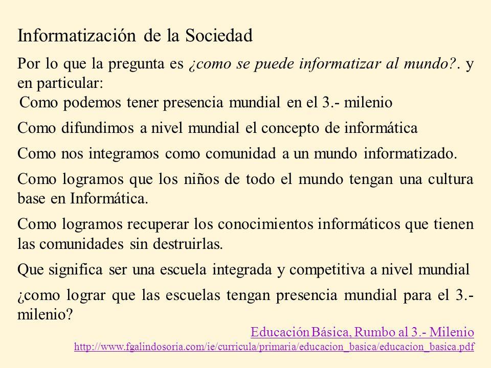 Informatización de la Sociedad