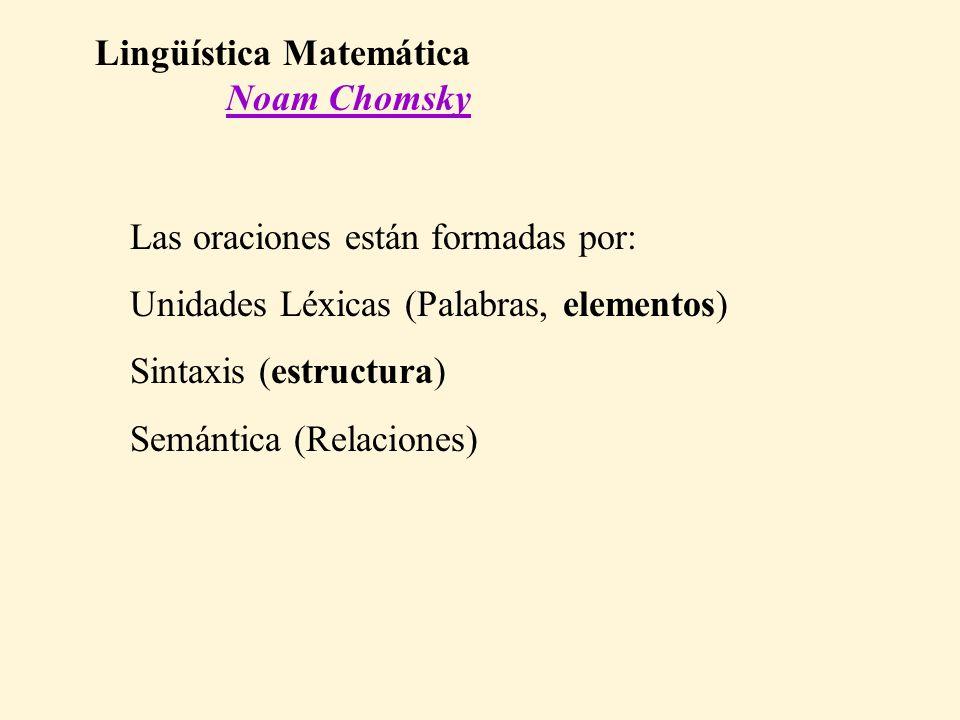 Lingüística Matemática