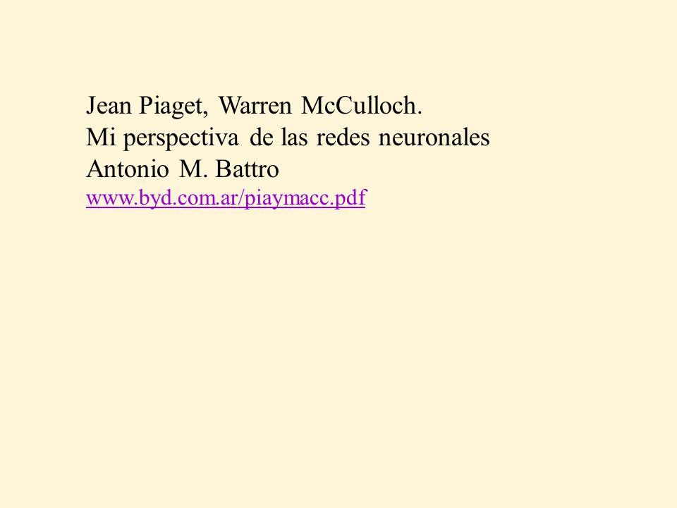 Jean Piaget, Warren McCulloch. Mi perspectiva de las redes neuronales