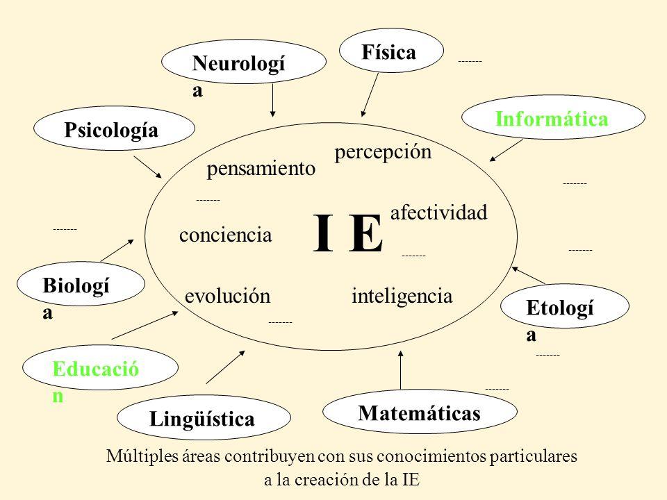 Múltiples áreas contribuyen con sus conocimientos particulares