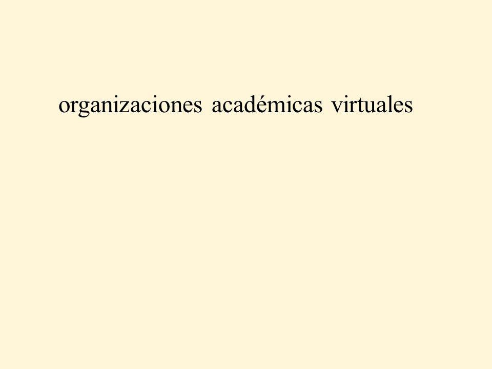 organizaciones académicas virtuales