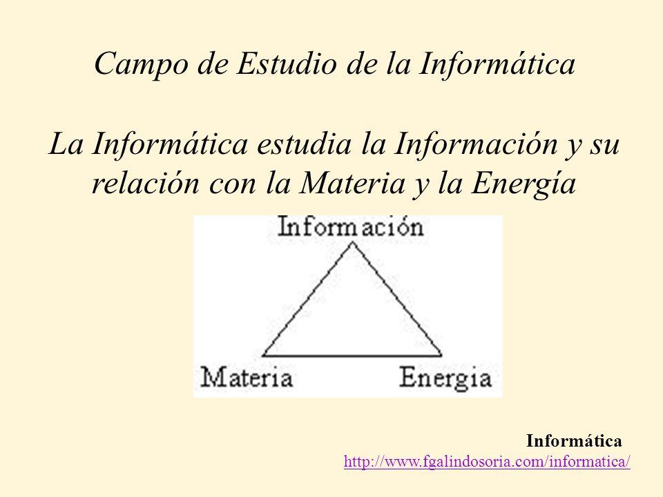 Campo de Estudio de la Informática