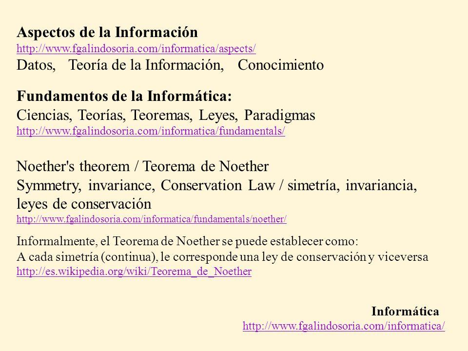 Aspectos de la Información