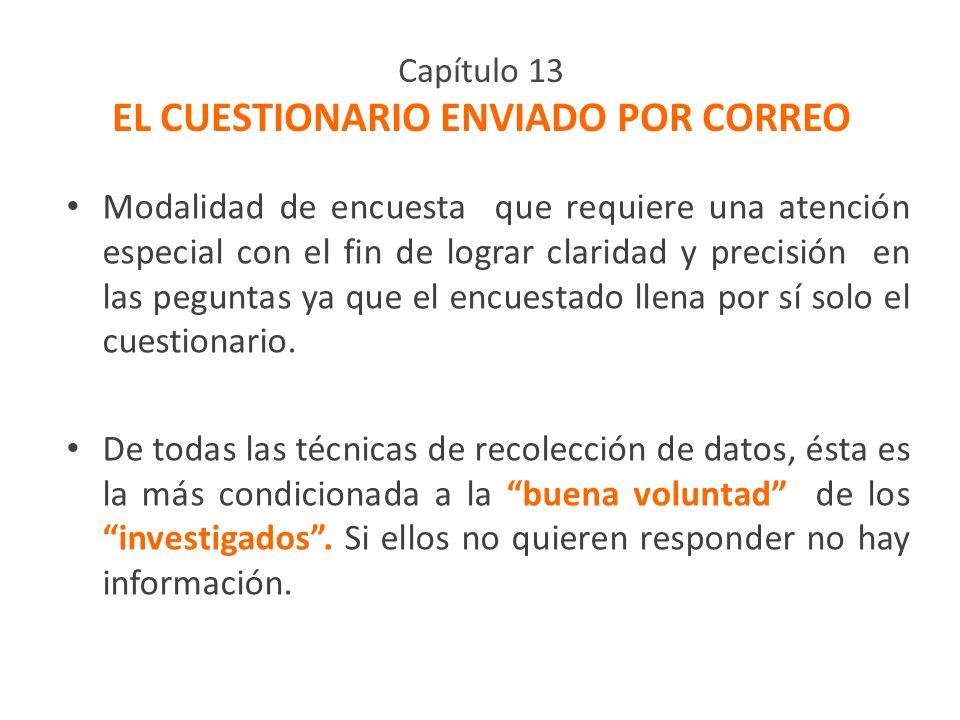 Capítulo 13 EL CUESTIONARIO ENVIADO POR CORREO