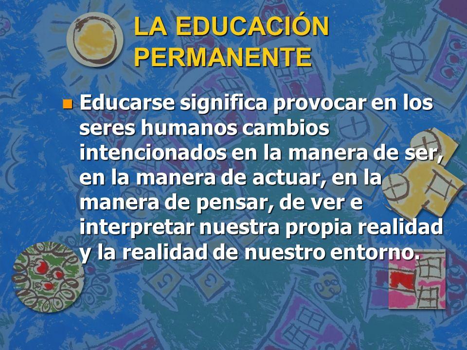 LA EDUCACIÓN PERMANENTE