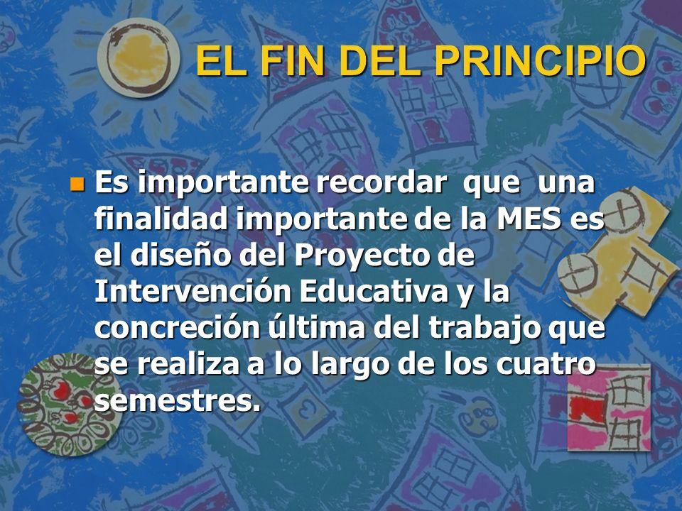 EL FIN DEL PRINCIPIO