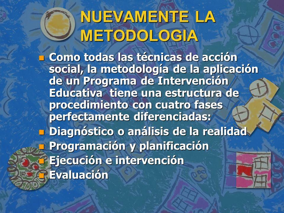NUEVAMENTE LA METODOLOGIA