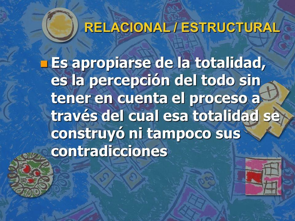 RELACIONAL / ESTRUCTURAL