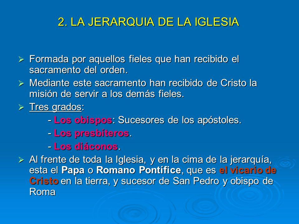 2. LA JERARQUIA DE LA IGLESIA