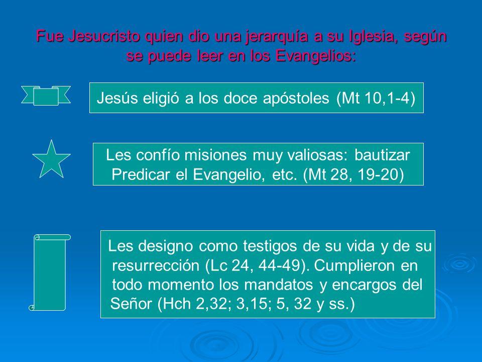 Jesús eligió a los doce apóstoles (Mt 10,1-4)