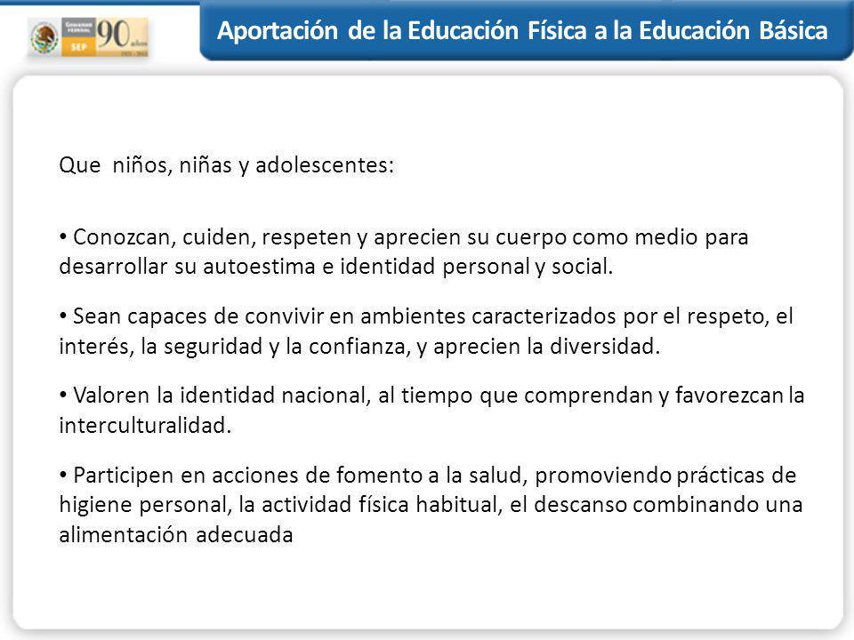 Aportación de la Educación Física a la Educación Básica