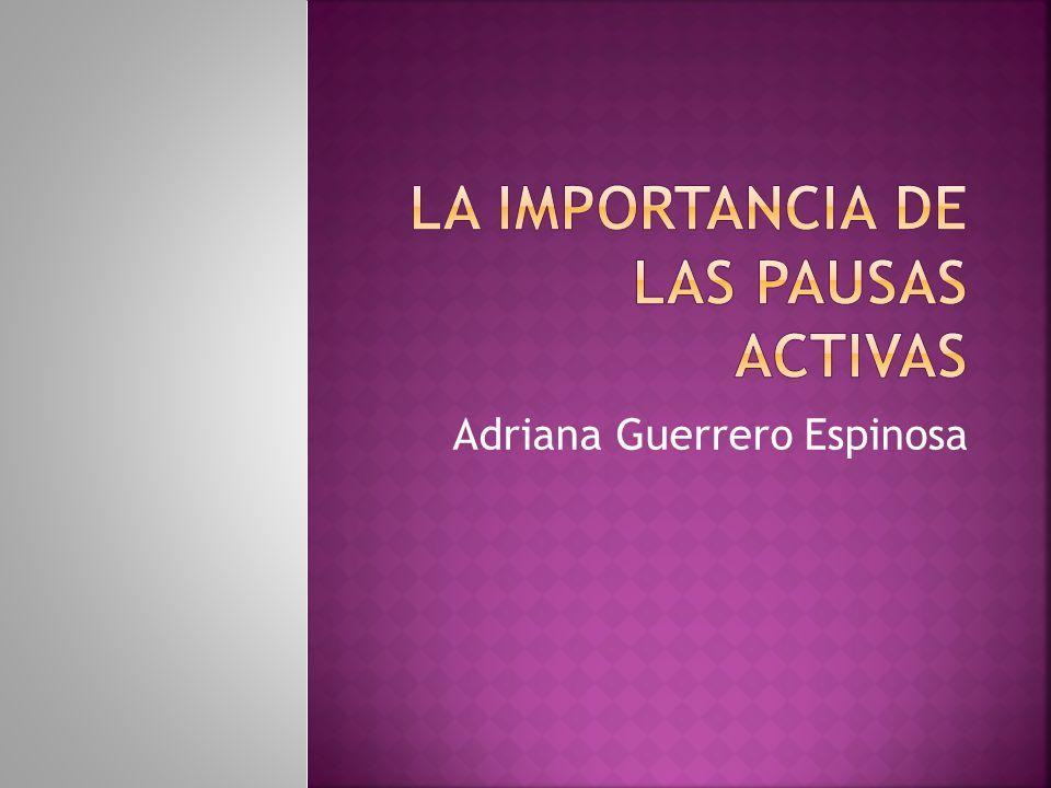 La importancia de las pausas activas