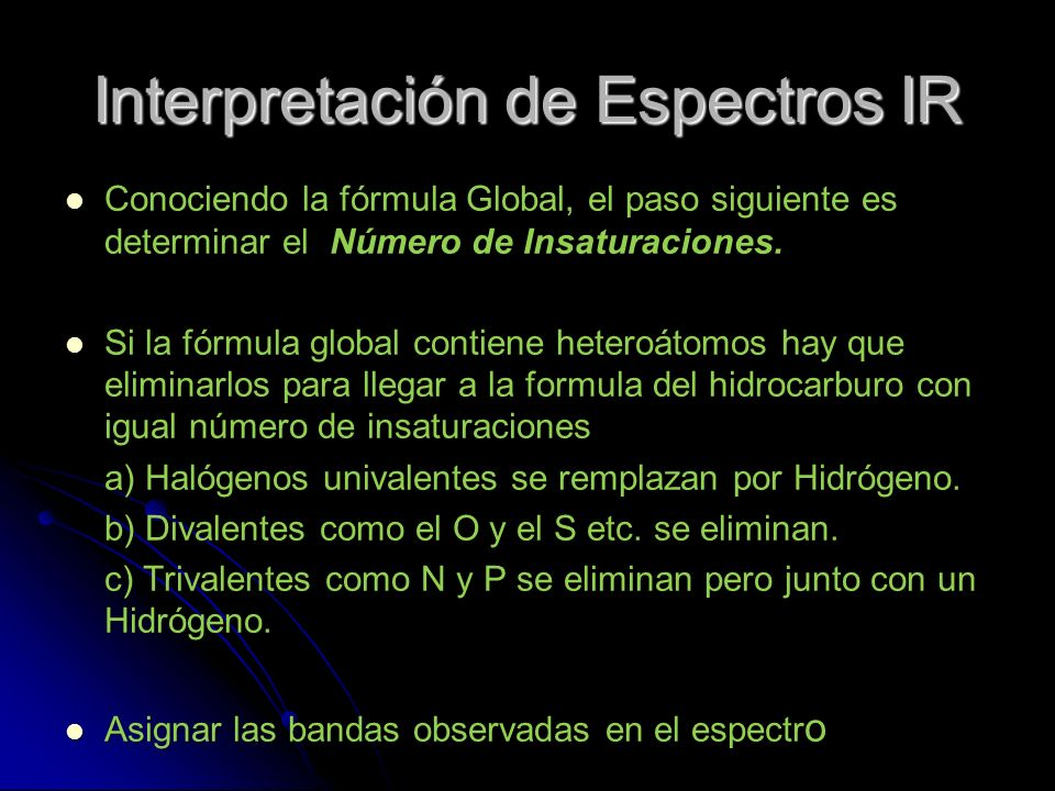 Interpretación de Espectros IR