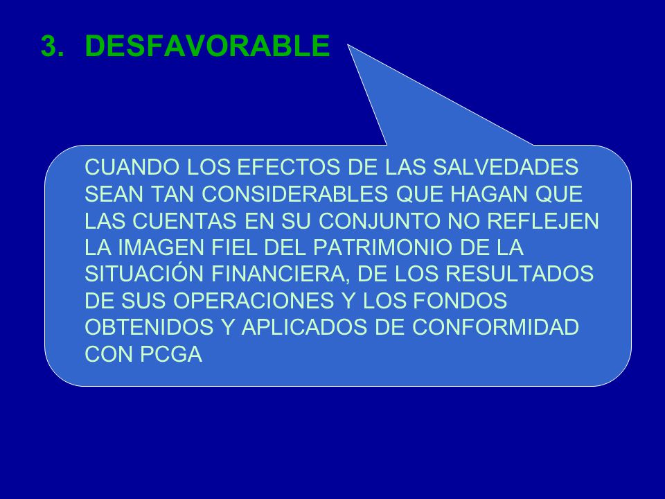 DESFAVORABLE
