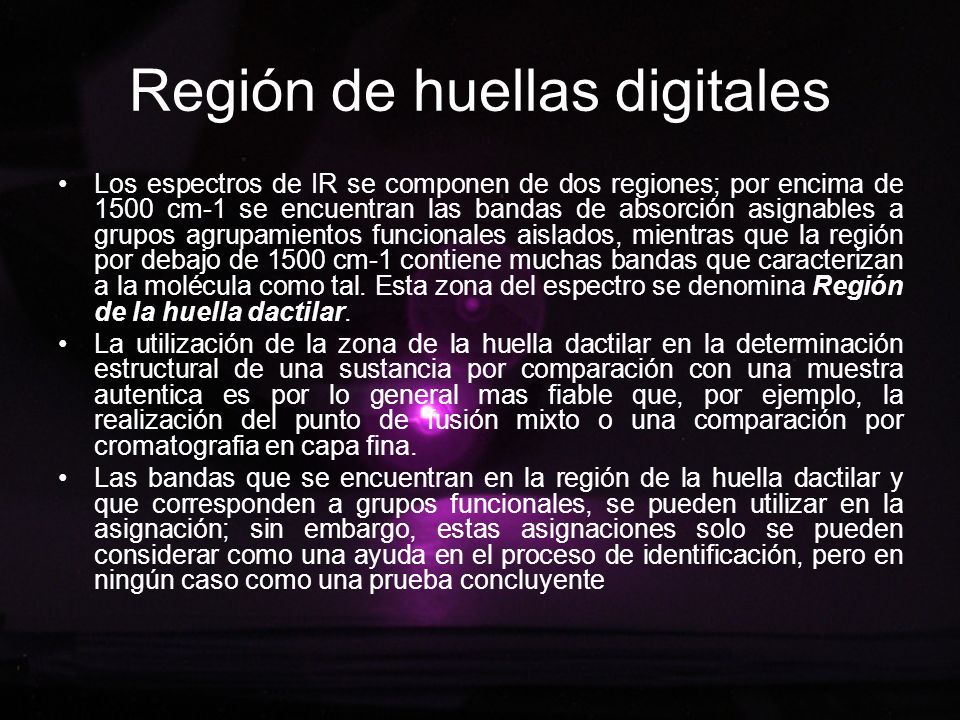 Región de huellas digitales