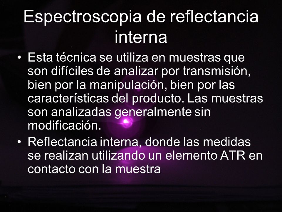Espectroscopia de reflectancia interna