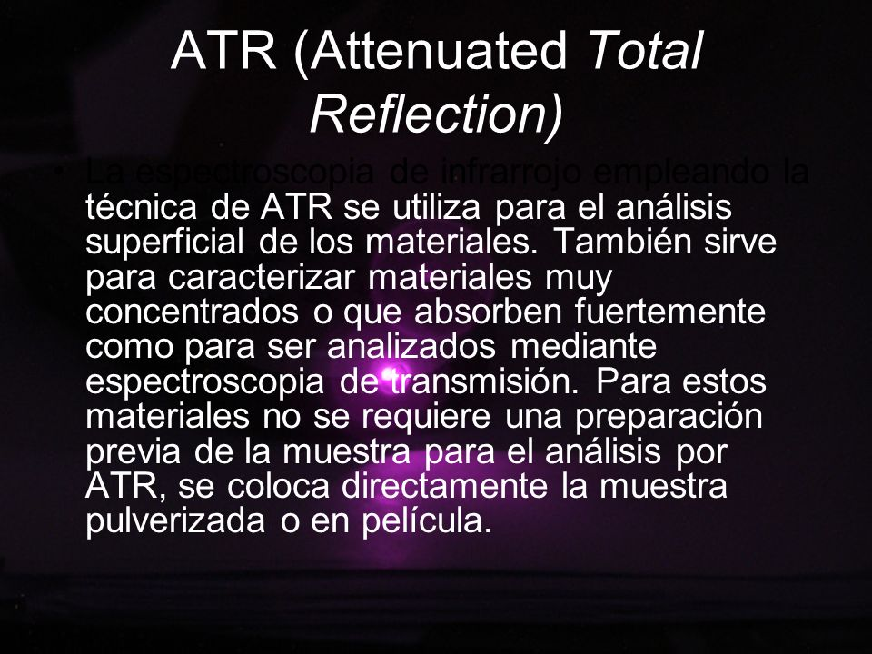 ATR (Attenuated Total Reflection)