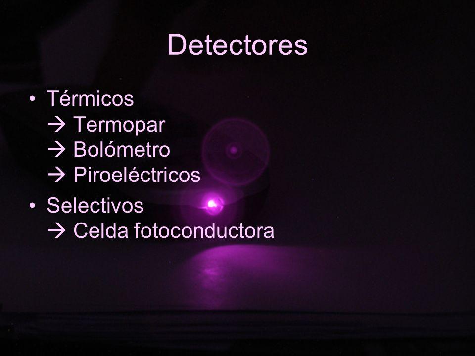 Detectores Térmicos  Termopar  Bolómetro  Piroeléctricos