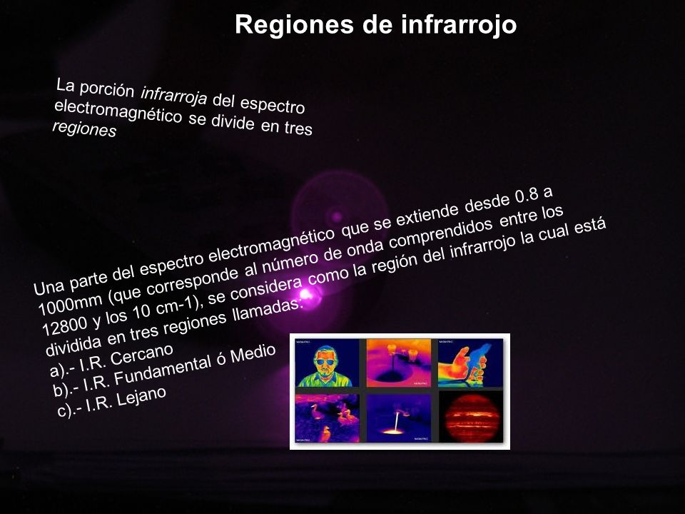 Regiones de infrarrojo