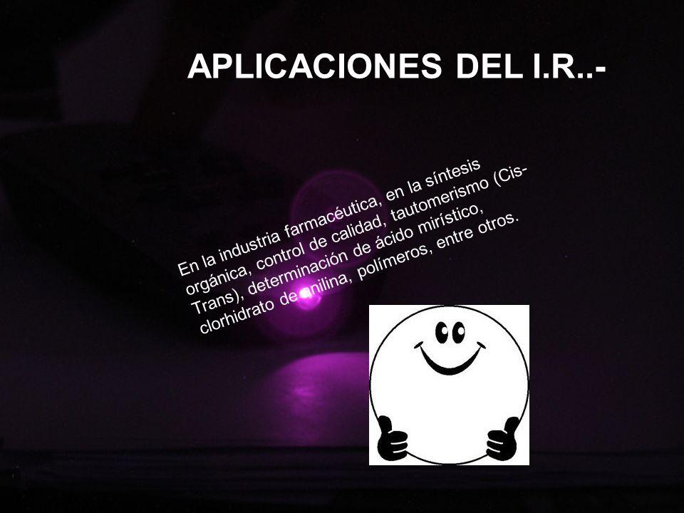 APLICACIONES DEL I.R..-
