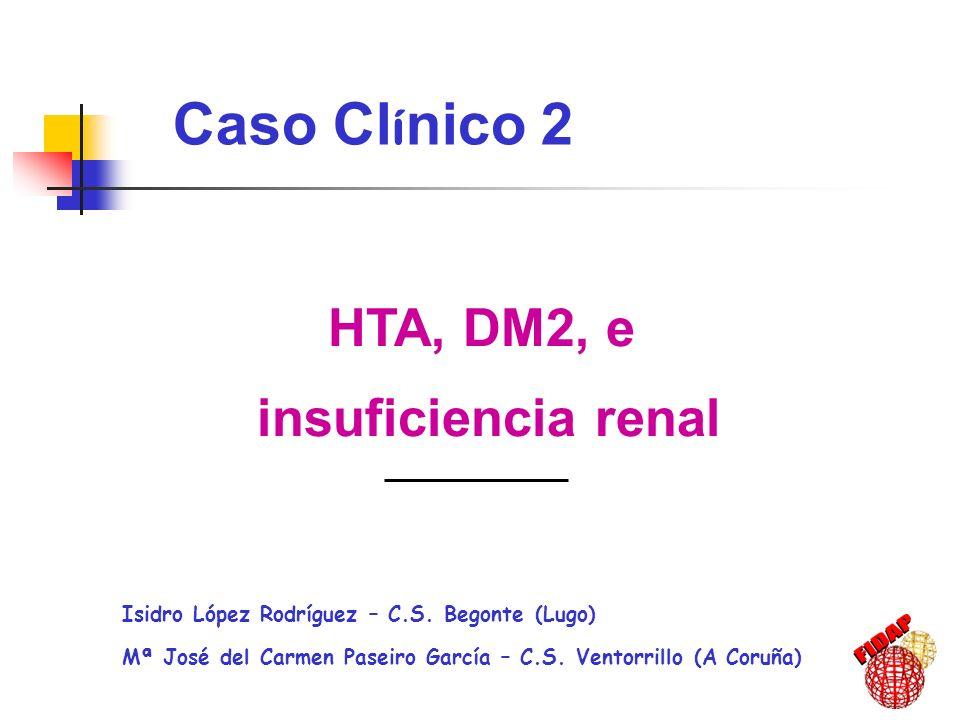 Caso Clínico 2 HTA, DM2, e insuficiencia renal