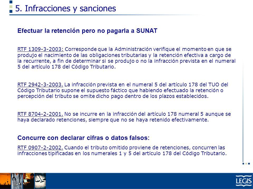 5. Infracciones y sanciones