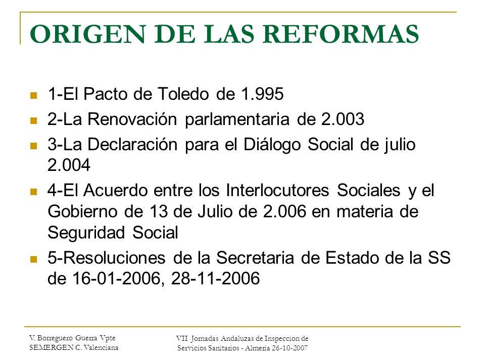 ORIGEN DE LAS REFORMAS 1-El Pacto de Toledo de 1.995